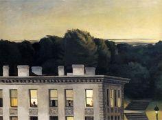Edward Hopper, House at Dusk, 1935, oil on canvas, 92.71 x 127 cm, Virginia  Museum of fine Arts, richmond, VA, USA