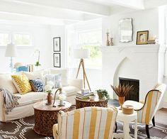 Coastal Style: Blue & Yellow Beach House