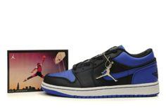 5278 Air Jordan Retro 1 Low Shoes Black Royal Blue Mens Outlet 97953
