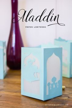 A whole new…blog! It's time for another Disney-themed freebie featuring, you guessed it—Aladdin! I had so much fun turning an iconic scene from Tangled into a paper lantern last month, that I just cou