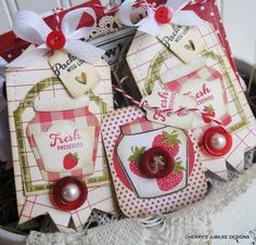 Cute fruit-themed tags