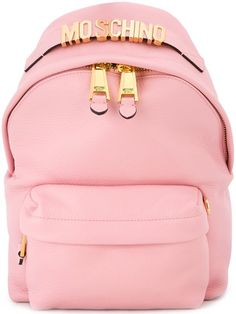 MOSCHINO Logo Plaque Backpack.  moschino  bags  leather  backpacks   Backpack  Bags 66f0996876df6
