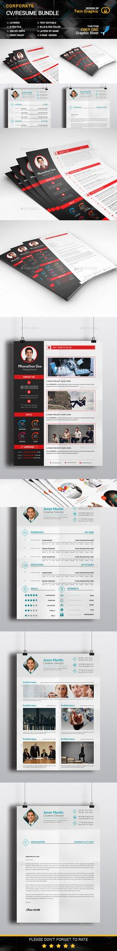 CV/Resumé + Business Card Pack Business cards, Business and