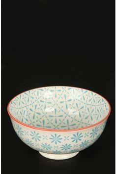 Blue Trellis Japanese Bowl