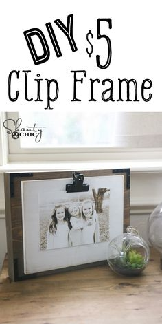 LOVE this frame idea! Super easy to make and super cheap! Free plans and video at www.shanty-2-chic.com!