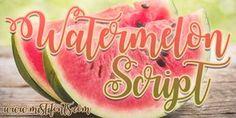 Watermelon Script Font | dafont.com