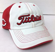 fcc49b98c8d htf TITLEIST CINCINNATI REDS HAT Cotton Relaxed-Fit Golf Ball Cap  Men Women Teen  Titleist  CincinnatiReds
