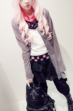 Spring Coordinate 2013 / MINT NeKO Tribal Folded Cat Pants $241.95