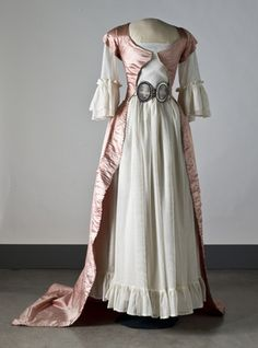 Late 18th century (robe ala turque? Open front gown?)