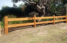 Click on image to go back - Post and 2 rail fence constructed with cypress pine