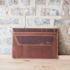 Handcrafted in Mississippi Made for laptop or smaller x Made with premium American leather Our handcrafted leather laptop sleeves are built to work as hard as you do. New Gadgets, Normal Wear And Tear, Laptop Sleeves, Mississippi, Card Holder, Vintage Fashion, Cool Stuff, American, Leather