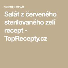 Salát z červeného sterilovaného zelí recept - TopRecepty.cz