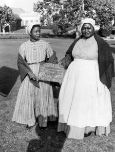 Hattie McDaniel, right, as Mammy, on the set of <i>Gone with the Wind</i> in 1939.