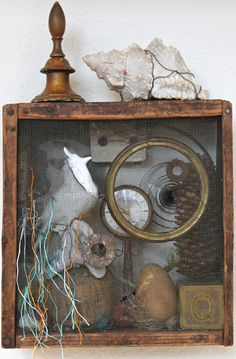 assemblage art by mike bennion - 'the comfort zone'