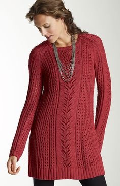 Love the color and knit.