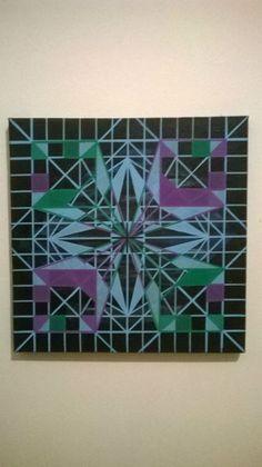 Flor - R$150,00 Acrílica - posca - tela 30X30 arte - art
