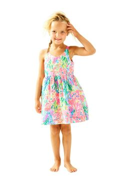 The Rue Dress is a printed party dress for your little one. It's a strappy fit and flare dress that you will both love.