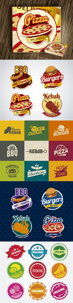 Download Free Fast Food Restaurant & Pizza Logos in Vector
