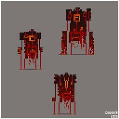 Magma demons for daily pixels #sketchbook #sketch #doodle #pixelart #pixels #art #drawing #conceptart #gameart