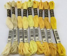 Yellow Browns & Neutrals: DMC Classic 6 Strand by SewWhatDesignsUS