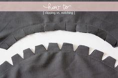 Sewing Tip: Clipping vs. Notching, sewing tip, sewing inspiration, sewing, idea, inspiration