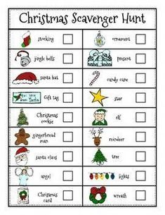 Christmas Literacy Center: Christmas Scavenger Hunt