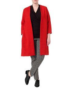 Studio 8 plus size martha red coat