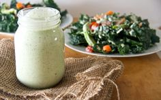 home made ranch dressing using coconut milk.