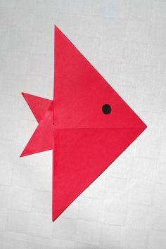 Fisch falten - Kinderspiele-Welt.de