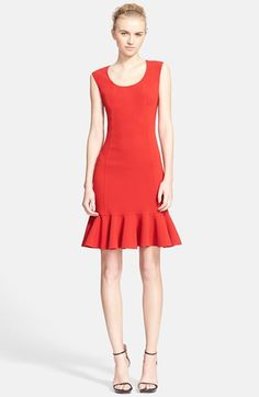 Michael Kors Stretch Wool Crepe Flounce Dress available at #Nordstrom