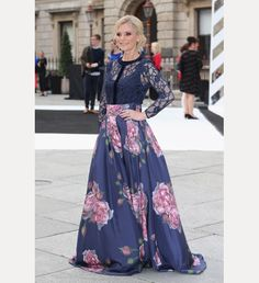 Beautiful British actress Emilia Fox wore the lace blouse and floor length Peaches Rose silk skirt to the RA Summer, Royal Academy of the Arts preview party..x