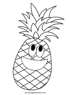 Pineapple Printable Coloring Pages – Coloring for every day Fruit Coloring Pages, Cat Coloring Page, Animal Coloring Pages, Printable Coloring Pages, Coloring Pages For Kids, Coloring Sheets, Coloring Book Pages, Colorful Drawings, Easy Drawings