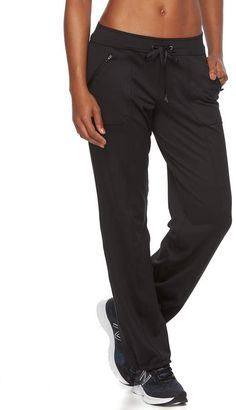 Tek Gear Women s Base Knit Bungee Hem Workout Pants Byxor För Kvinnor 1e3b702c9ab32