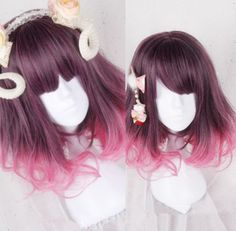 """Coral Red Lolita Wigs - Use the code """"batty"""" at Sanrense for 10% off your order!"""