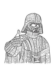 star wars coloring page adult coloring zentangle - Fun Coloring Pictures