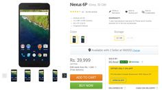 Google Nexus 6P back in Stock on Flipkart ( 32GB and 64GB )   India Online Shopping