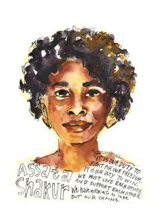 Portfolio — Artist Lydia Makepeace History Posters, History Quotes, Assata Shakur Quotes, And Justice For All, Postcard Printing, Fight For Us, Ink Illustrations, Woman Painting