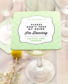 Help Guests Keep Their Drinks While Dancing