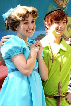 Wendy Darling and Peter Pan Can you say adorable?!