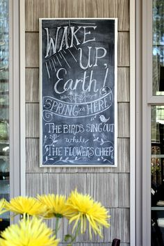 A Little Chalkboard Art to Welcome Spring!