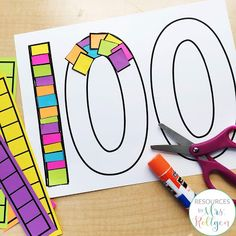 Looking for ideas to help celebrate the 100th day of school with your prekindergarten or kindergarten students? These fine motor activites are perfect for centers or rotations and provide low prep fun. Kinders will love the cutting activities, dotting fun, and the cover-up activity that focus on the number 100. Keep preschoolers busy and having fun with linking, hole punching, and letter writing tasks. Try these out during your 100th day celebration to add giggles and fun to the special day.