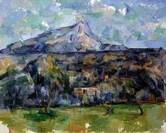 Cezanne, Mont Sainte-Victoire, ca. Paintings Famous, Oil Paintings, Impressionist Paintings, Post Impressionism Art, Cezanne Still Life, Paul Cezanne Paintings, Learn Art, Landscape Drawings, Oil Painting Reproductions