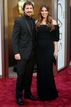 Christian Bale y su mujer, Sandra Blazic  http://cuchurutu.blogspot.com.es/2014/03/ellos-y-parejas-en-oscars2014.html