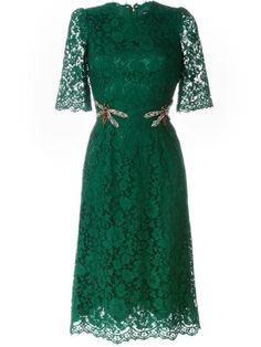 Compre Dolce & Gabbana Vestido com renda floral em Dolce & Gabbana from…