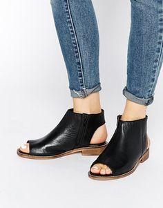 ASOS – AALIYA – Ankle Boots mit Peeptoe und Ausschnitt hinten