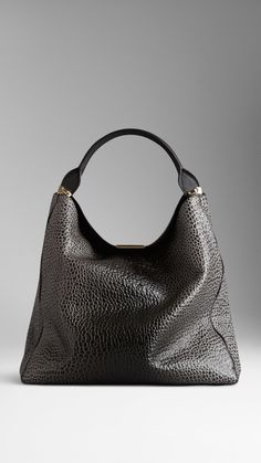 01b38ced2b027 Large Signature Grain Leather Hobo Bag