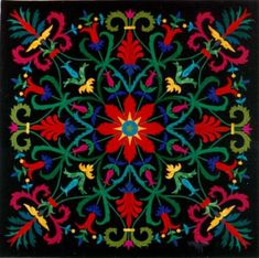 Applique so intricate it's almost embroidery.