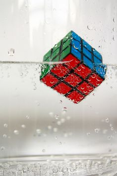 Rubik's cube in water