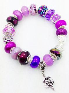 RN Purple Nurse European Bracelet by Graceandliz on Etsy, $15.00