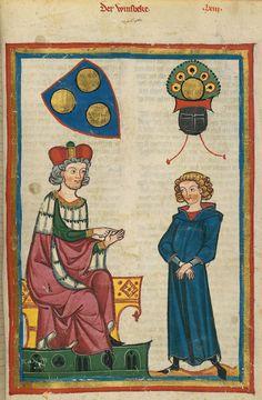 Codex Manesse, fol. 213r, 1305-1340, Zürich.